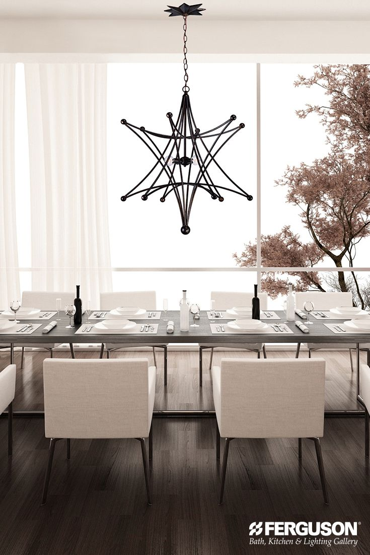 Kichler lighting 42548clp triad 3 light linear pendant classic pewter - Showcase Your Beautiful Thanksgiving Dinner Feast Under The Glow Of This Equally Beautiful Crystorama Chandelier
