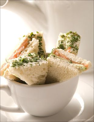 Salmon tea sandwiches