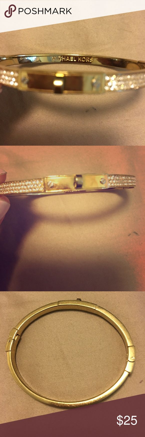 Michael Kors lock bracelet Gold color. The lock fell out. Worn as a bangle Michael Kors Jewelry Bracelets