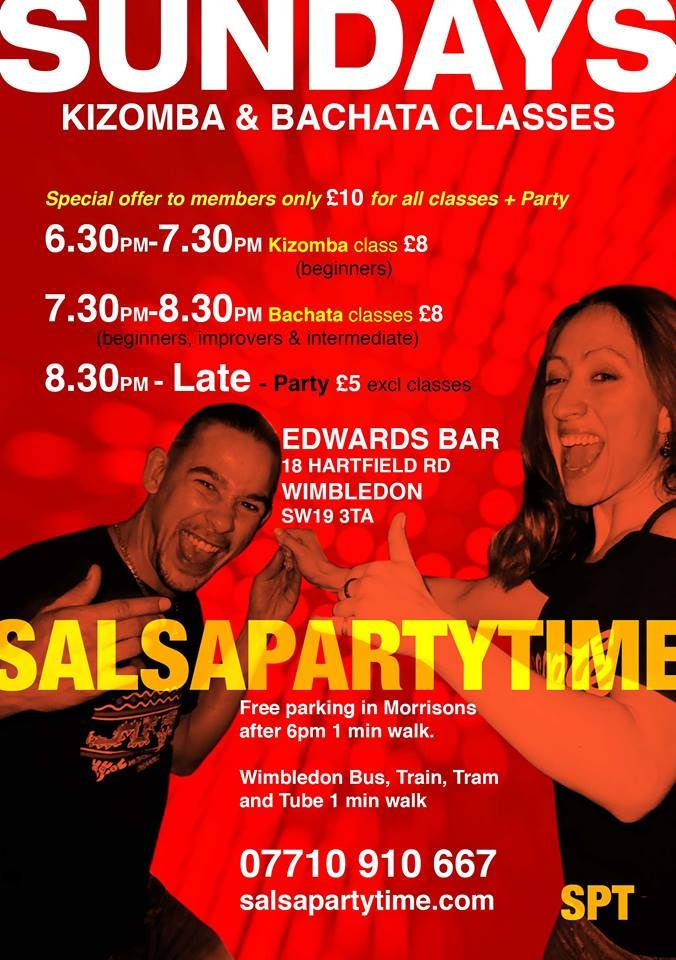 SALSA BACHATA KIZOMBA LONDON. WOW!!! Many thanks to all who came on down from the SPT/BPT team. Next stop for Another Great Night Out, Sunday 9th July for our weekly Kizomba and Bachata Sensual Sundays @ Edwards 18, Hartfield Road, Wimbledon SW19 3TA. Kizomba @ 6.30pm, Bachata @ 7.30pm, PartyTime until Midnight!