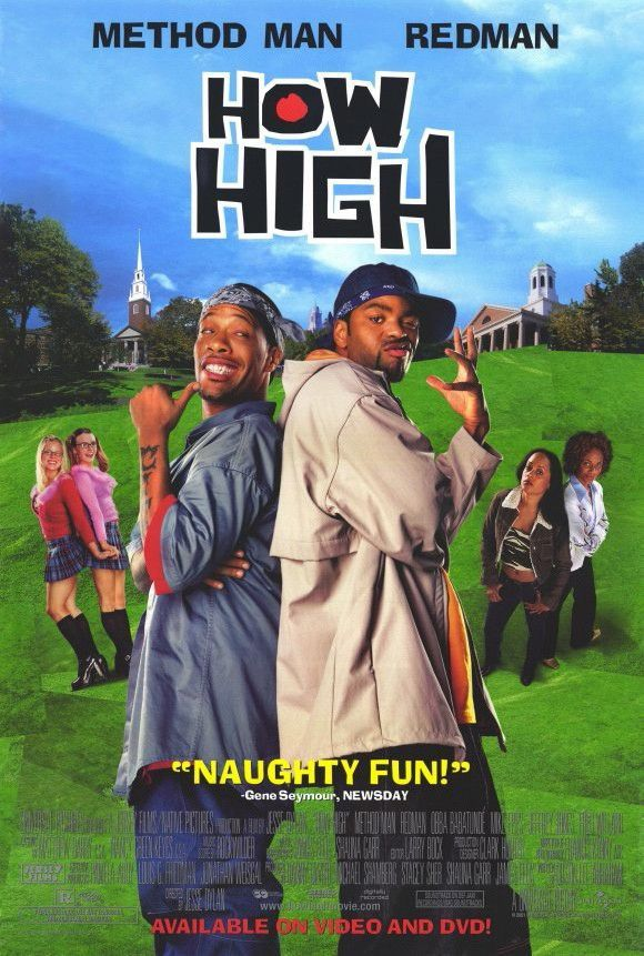 How High Movie Poster 27x40 Used Tracy Morgan, Melissa Peterman, Spalding Gray, Scott Lincoln, Tyrin Turner, TJ Thyne, Justin Urich, Joe Ochman, Chris Elwood, Adam Carrera, Redman, Hector Elizondo, Chuck Liddell, Mike Epps, Amber Smith