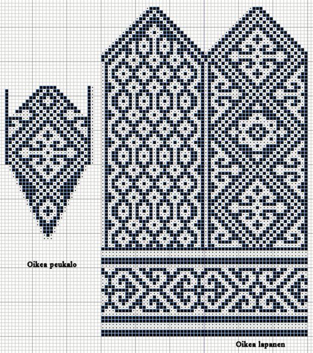 Image result for серые жаккардовые варежки