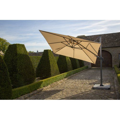 dCor design Chichester Square Side Post 3m Cantilever Parasol