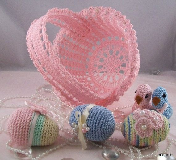Thread Crochet Easter Basket Pattern