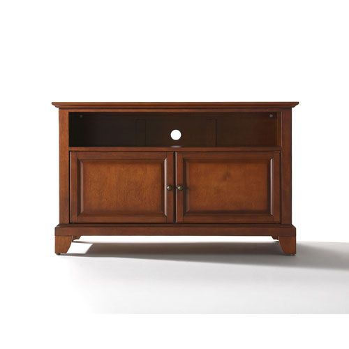 Newport 42 Inch Tv Stand In Classic Cherry Finish Crosley Furniture Tv Cabinets Tv Stands