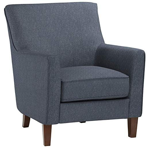 Stone Beam Cheyanne Modern Accent Chair 31 W Blue Living Room