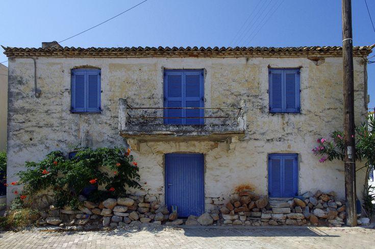 Megalochori village, Agistri