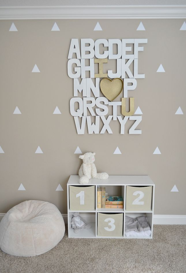 How adorable is this DIY alphabet wall?