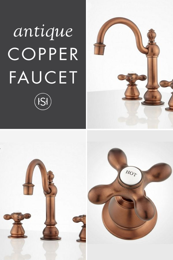 Orford Widespread Bathroom Faucet   Antique Copper