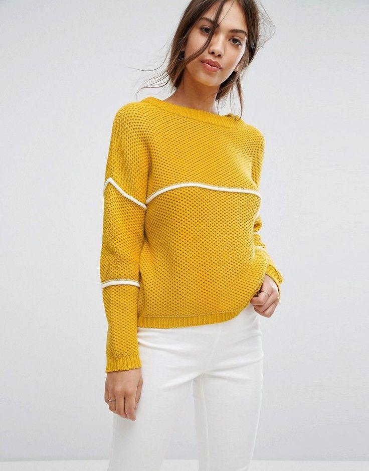 Vila Stripe Knitted Sweater - Gold