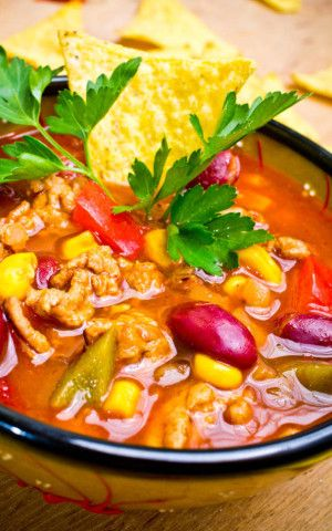 Slow Cooker Chicken Taco Soup Also a recipe for making your own chili seasoning.