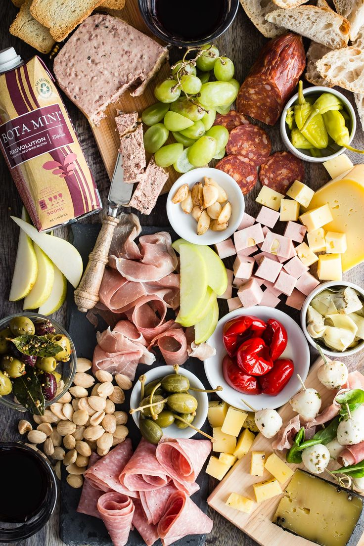 A perfect way to relax and still feel you ate like a king! Make an ultimate charcuterie platter and watch it disappear in a hot second along with some easy-to-drink Bota Box RedVolution red wine.