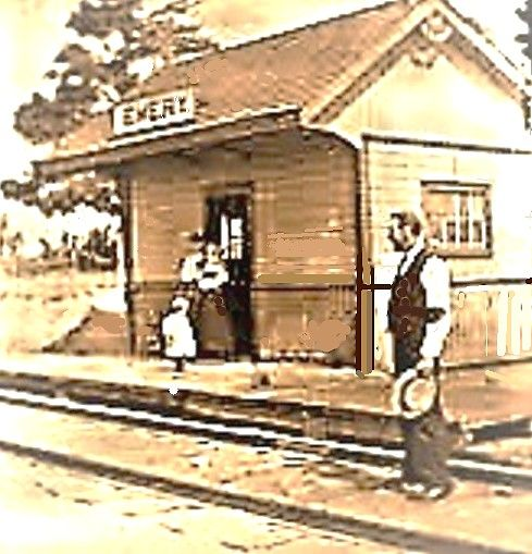 EMERY, Ontario - vintage photo - Railway Depot Toronto Public Library - It as a flag station built for the Toronto Grey & Bruce Railway in 1870. Between 1881 and 1884 the line was acquired by the Canadian Pacific TPL_edited