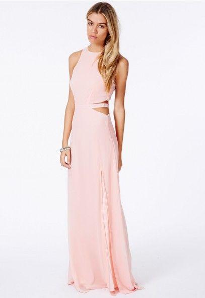 Anthea Cut Out Split Maxi Dress - Dresses - Maxi Dresses - Missguided