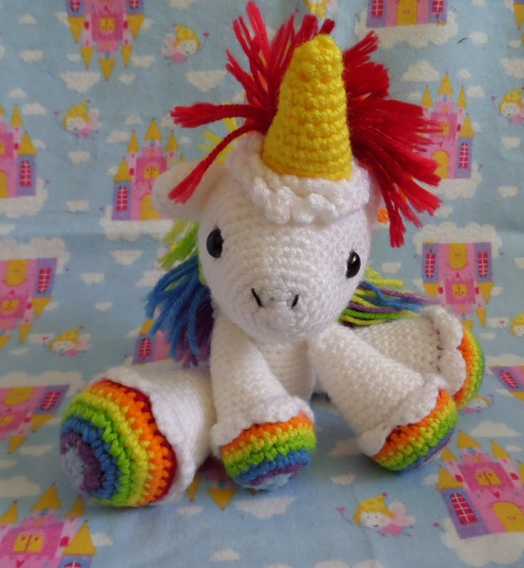 Rainbow Unicorn Knitting Pattern : Free crochet rainbow unicorn pattern dancox for