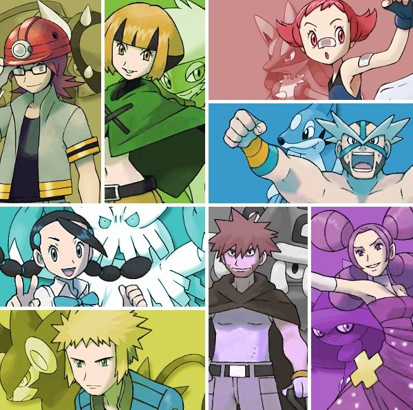 Sinnoh Gym Leaders: Roark, Gardenia, Maylene, Crasher, Candice, Volkner, Byron…