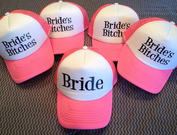 Brides Bitches Trucker Hat Set by Preparewear on Etsy, $45.00