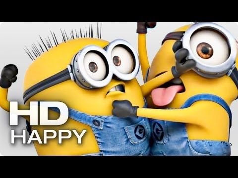 HAPPY - Pharrell Williams (feat. Minions) | 2014 Official [HQ]  Fun little feel good song/video. And the Minions are always great!