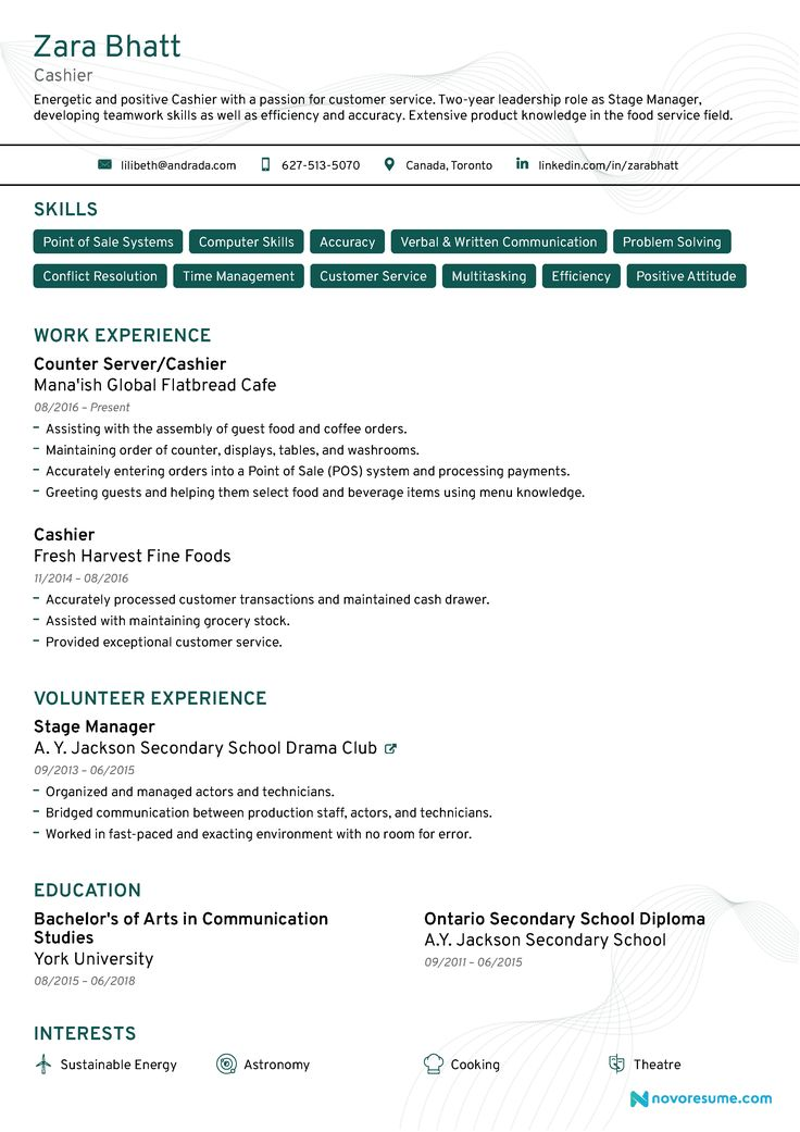 15+ Cashier skills description for resume Resume Examples