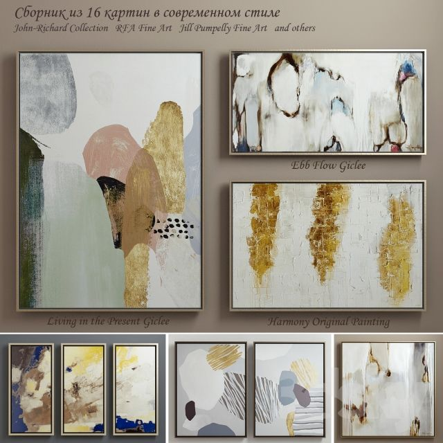 The collection of contemporary paintings (set-5)