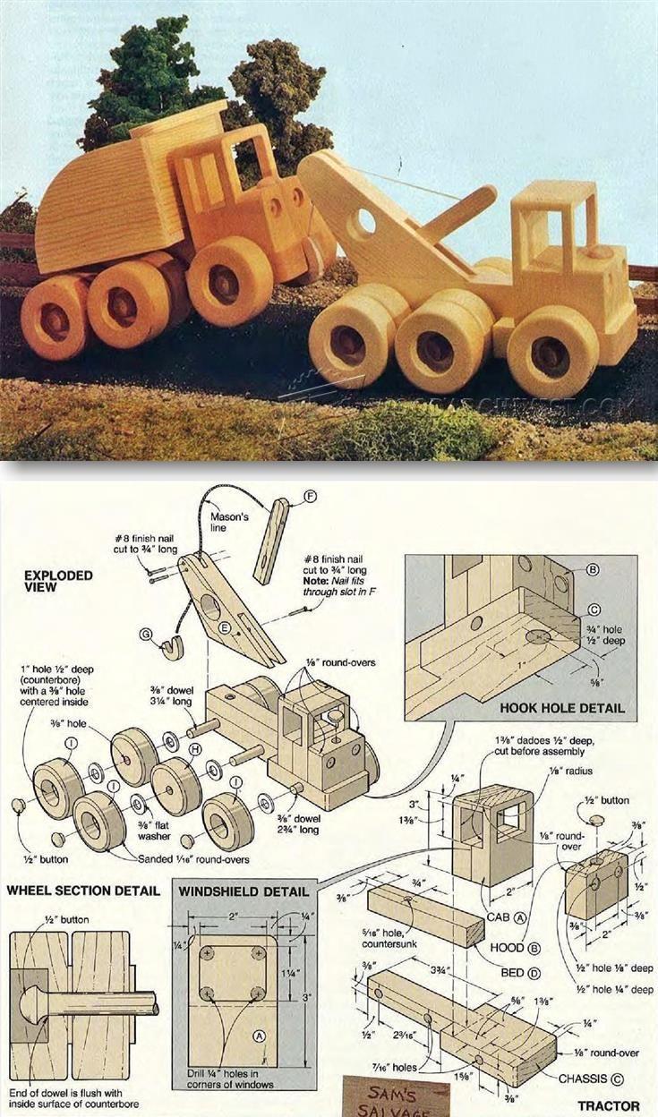 wooden wrecker plan - children's wooden toy plans and