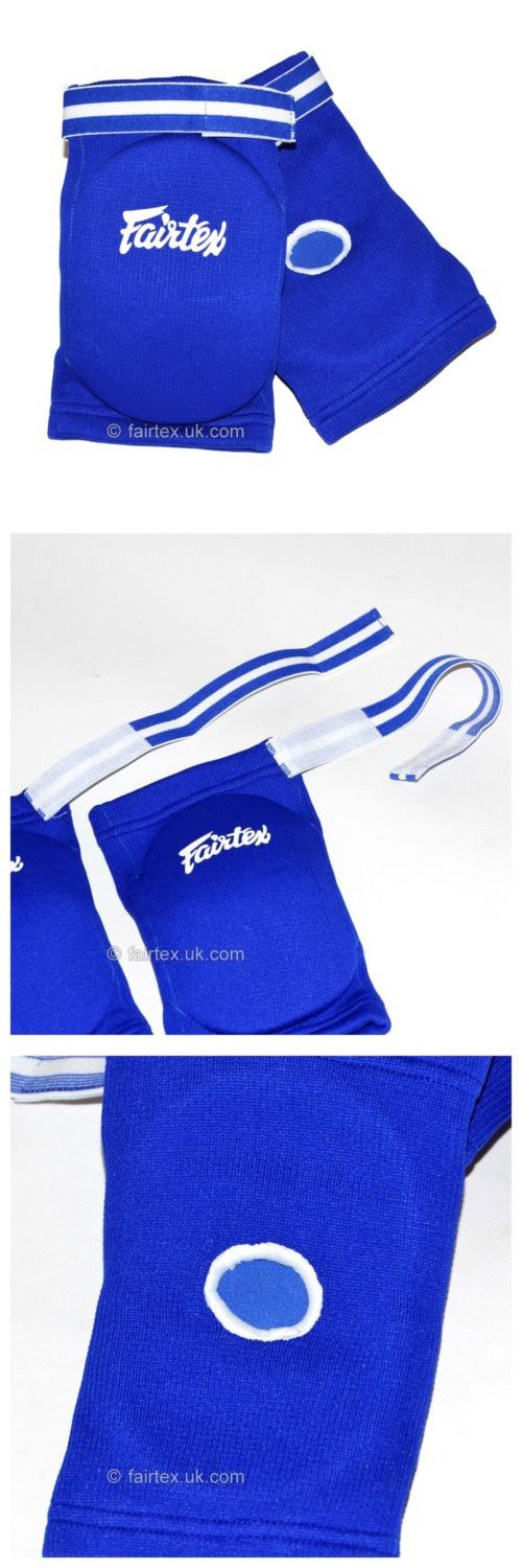 Elbow Knee and Ankle Guards 179777: Fairtex Muay Thai Competition Elbow Pads - Blue BUY IT NOW ONLY: $47.0