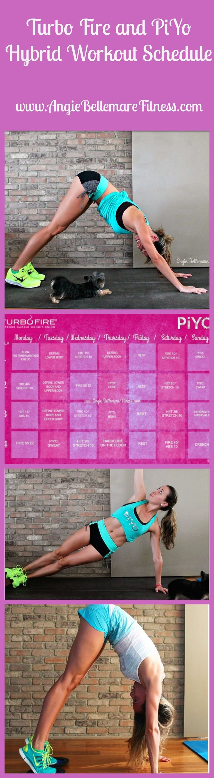CLICK the pin to see my Hybrid Calendar of two of my favorite programs, Turbo Fire and PiYo!! REPIN if you want to try this :)