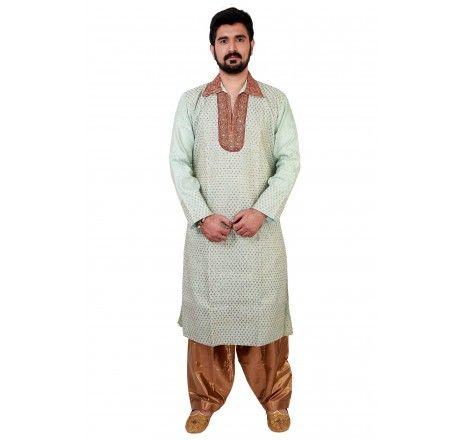 Maroon raw silk kurta set with aari work