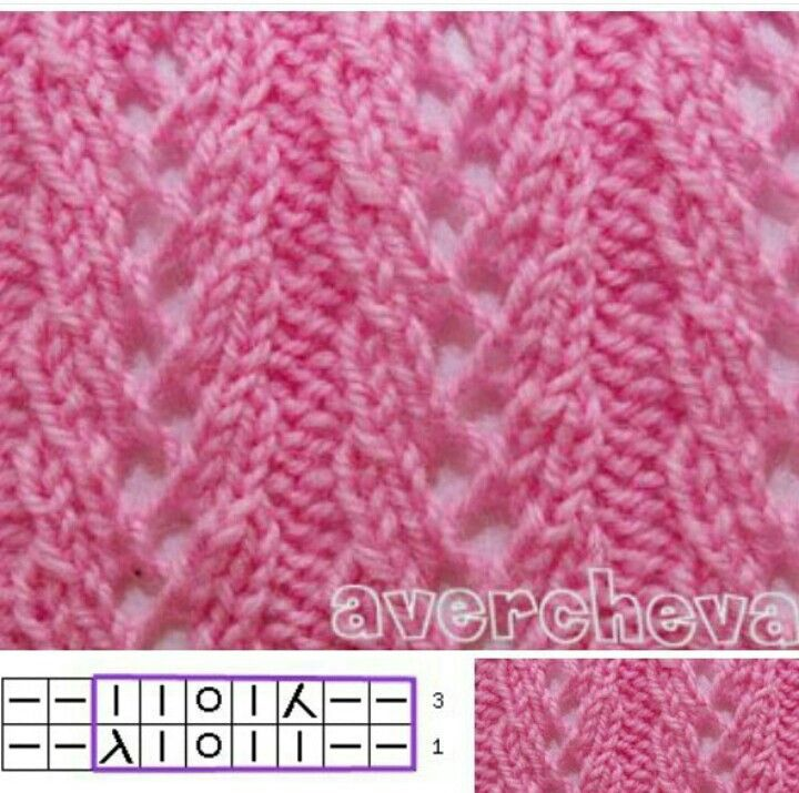 KNIT #SIMPLE #STITCH PATTERN WITH DIAGRAM SIZE:9sts x 3rows (Russian), EASY 3 ROW INSTRUCTIONS: ROW1=P2,K2,YO,K1,K2tog transfer RIGHT,K2/ROW2=*Repeat of Row 1/ROW3=K2,K2tog Transfer LEFT,K1,YO,K4{END}==NOTE:Original Website is Russian