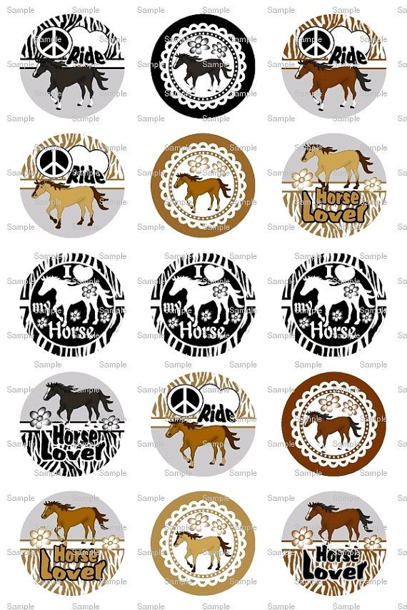 Love My Horse Bottle Cap Images 4x6 Bottlecap by designsbyPM, $2.00
