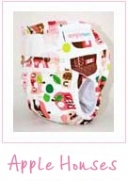 Designer Bums - Velcro - Apple Houses - now only $29.95
