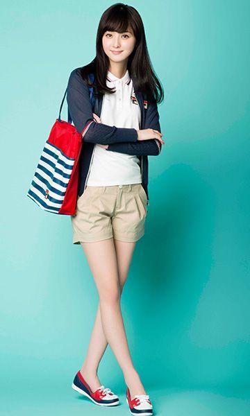 Nozomi Sasaki (Model) in Fila wear.