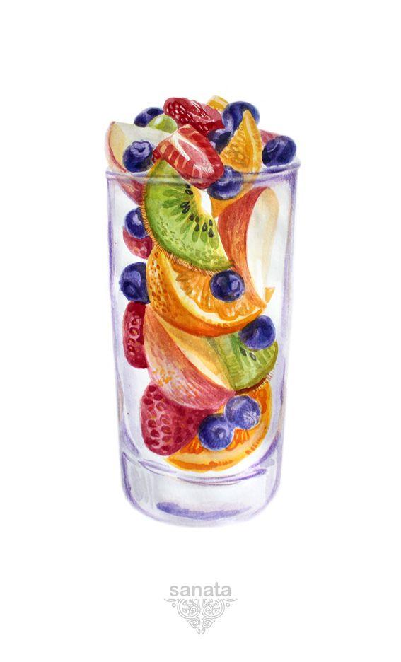 Fruits & cream on Behance