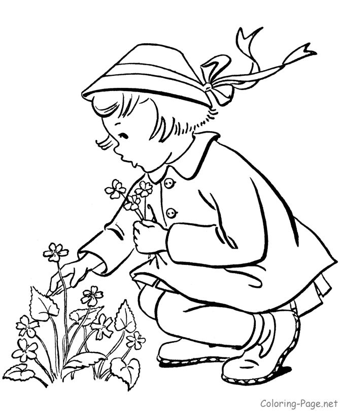 Easter Flowers Colouring Pages : Best 20 spring coloring pages ideas on pinterest free