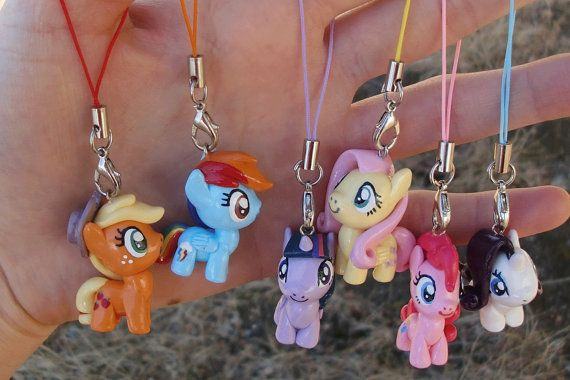 My Little Pony Inspired Clay Charms Mane 6 by NerdyWorks on Etsy