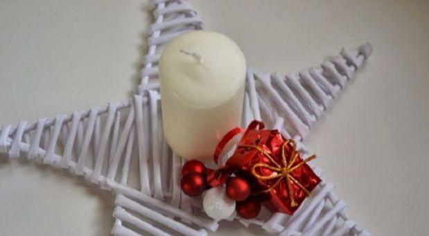 BLUEBERRY PINK BLOG: Pletená vánoční hvězda