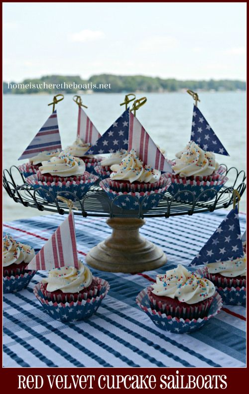 Red Velvet Cupcake Sailboats, Home is where the boat is