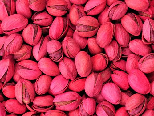When I was growing up...every Christmas Santa would leave me a 5lb bag of red-dyed pistachios.......my fingertips were red for weeks!! :o)