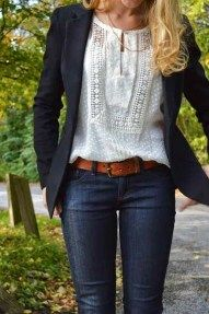 Casual blazer outfit for women (107)