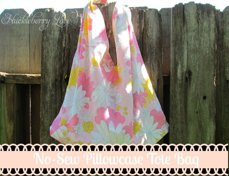 No Sew Pillowcase Drawstring Bag: 81 best PILLOWCASE TOTE BAGS images on Pinterest   Tote bags    ,