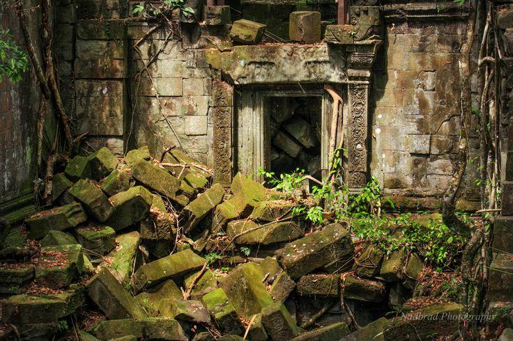 A Secret Doorway in Cambodian Temple by Nadbrad Photography at www.nadbrad.com