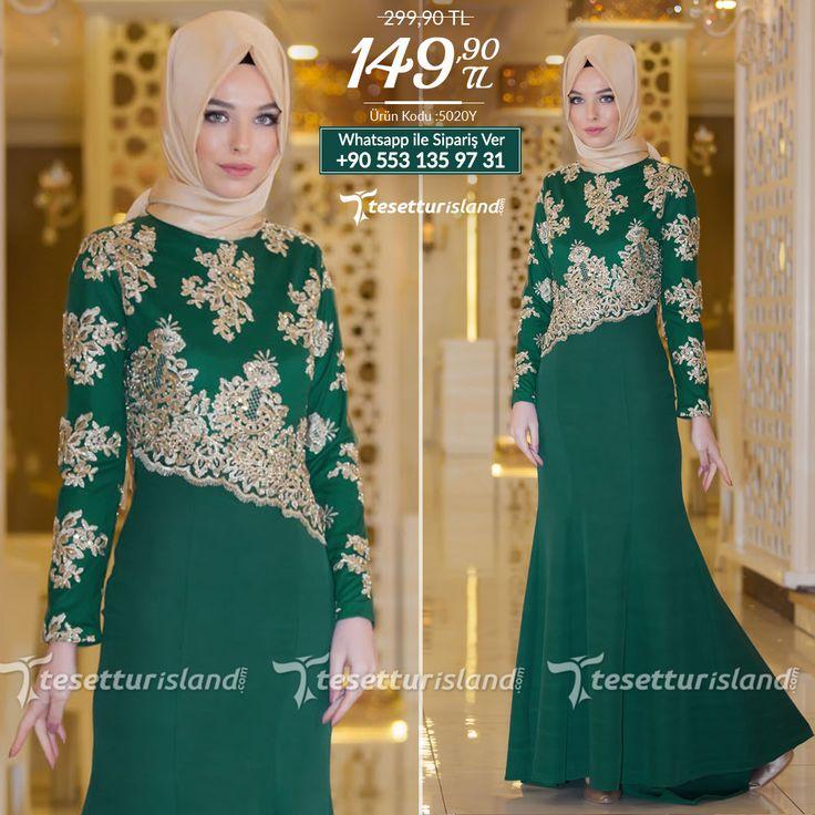 YGS - Payet Detaylı Yeşil Balık Elbise #tesettur #tesetturabiye #tesetturgiyim #tesetturelbise #tesetturabiyeelbise #kapalıgiyim #kapalıabiyemodelleri #şıktesetturabiyeelbise #kışlıkgiyim #tunik #tesetturtunik