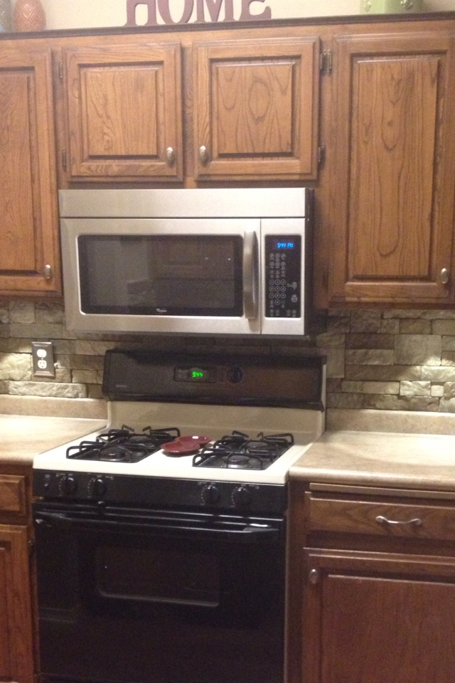 Cheap Do It Yourself Kitchen Backsplash All You Need Is AirStone Carried By Lowes