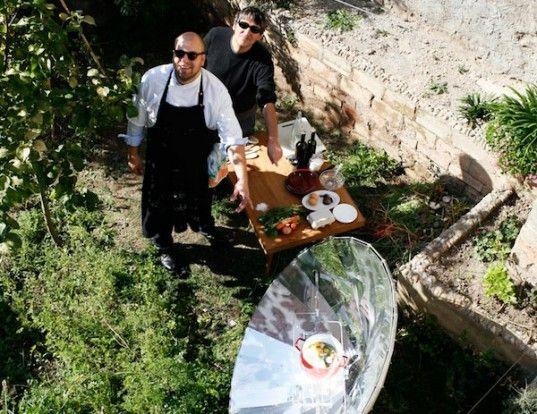 Lapin Kulta Solar Kitchen Serves Up Sun-Cooked Meals This Summer! Sustainable Design Innovation. http://www.lapinkultasolarkitchenrestaurant.com/