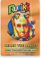 "How creative -- using the Rubik's cube to create intricate mosaics with your students, to teach ""algorithms, geometry, problem solving, spatial relations..., color theory, pixels, significant historical figures, patterns, and national treasures"""