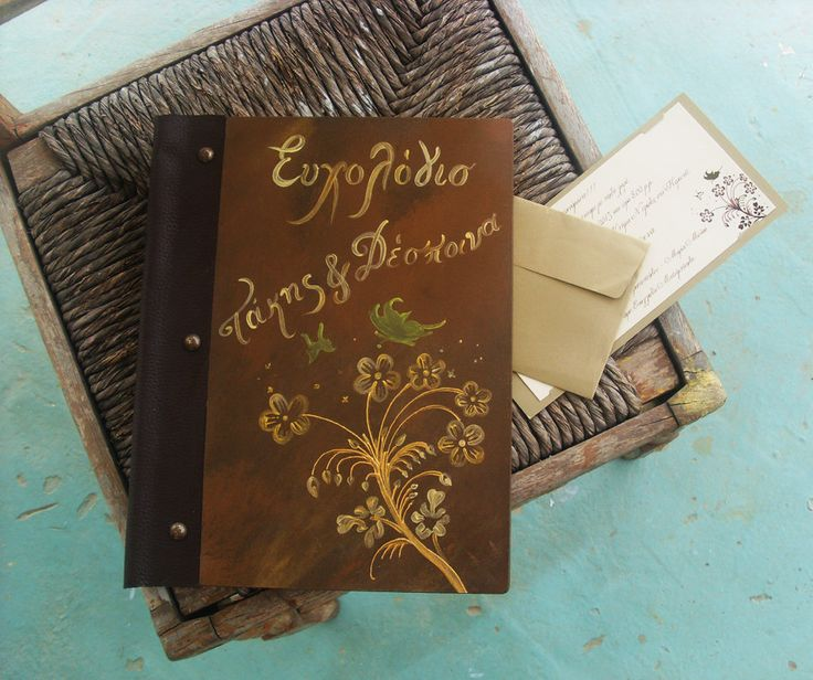 Custom Wedding GUEST BOOK - Totally Handmade and Handpainted by allabouthandicraft on Etsy