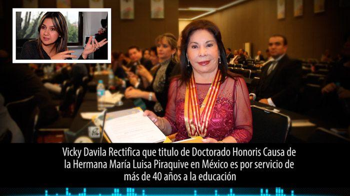 Por orden judicial Vicky Davila rectifica información sobre la Hermana Maria Luisa Piraquive