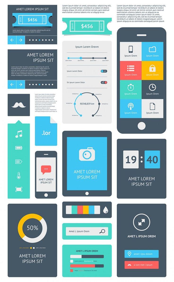 15 Premium Flat UI Design Templates - Boost Your Production