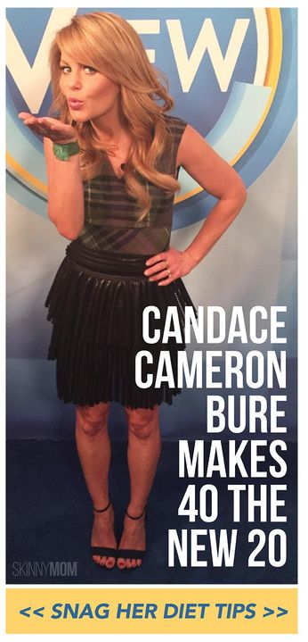 Candace Cameron Bure shares her diet and healthy living tips.