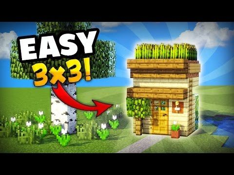 MINECRAFT: HOW TO MAKE THE SMALLEST HOUSE YOU CAN MAKE IN SURVIVAL! GREAT FOR YOUR FIRST DAY - Minecraft Servers View